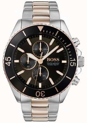 Hugo Boss | mens ocean edition | acciaio inossidabile bicolore | quadrante nero 1513705