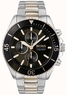 BOSS | mens ocean edition | acciaio inossidabile bicolore | quadrante nero 1513705