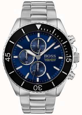 Hugo Boss | mens ocean edition | acciaio inossidabile argento | quadrante blu | 1513704
