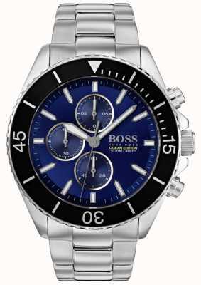 Boss | mens ocean edition | acciaio inossidabile argento | quadrante blu | 1513704