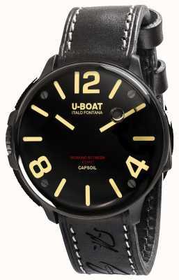 U-Boat Cinturino in pelle nera elettromeccanica dlc capsoil 8108