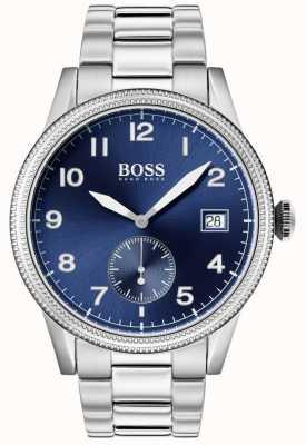 Boss   orologio legacy maschile   acciaio inossidabile   quadrante blu   1513707