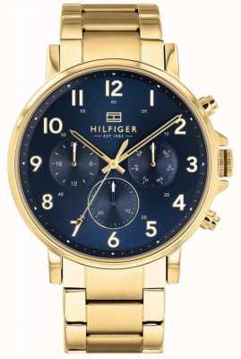 Tommy Hilfiger Daniel | braccialetto ip oro | quadrante blu 1710384