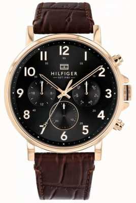 Tommy Hilfiger | orologio da uomo in pelle marrone daniel | 1710379