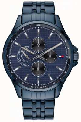 Tommy Hilfiger Shawn | braccialetto ip blu | quadrante blu 1791618