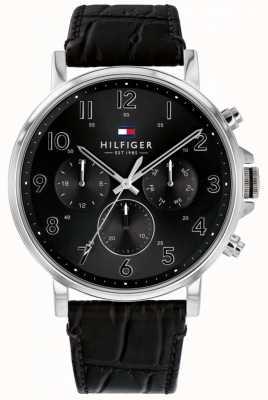 Tommy Hilfiger | orologio da uomo nero in pelle daniel | 1710381