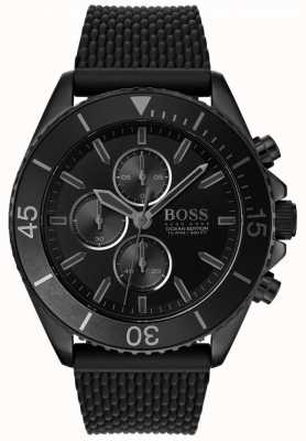 Hugo Boss | mens ocean edition | quadrante nero | cinturino nero | 1513699