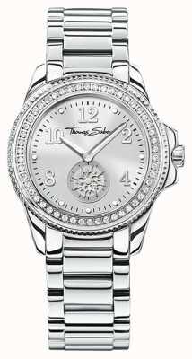 Thomas Sabo | orologio da donna glam & soul in acciaio inossidabile quadrante argentato | WA0235-201-201-33
