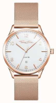 Thomas Sabo | bracciale in oro rosa e acciaio | quadrante bianco | WA0341-265-202-40