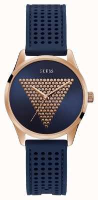 Guess | mini impronta femminile | cinturino in caucciù blu | quadrante bluerose | W1227L3