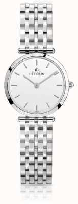 Michel Herbelin | donne | epsilon | bracciale in acciaio inossidabile quadrante bianco | 17116/B11