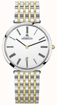 Michel Herbelin | uomo | epsilon | braccialetto bicolore extra piatto | 19416/BT11