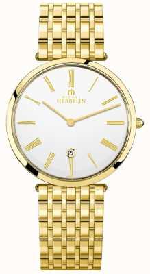 Michel Herbelin Quadrante bianco con quadrante in oro placcato oro epsilon 19416/BP01N