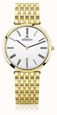 Michel Herbelin | uomo | epsilon | braccialetto extra piatto in oro pvd | 19416/BP01N