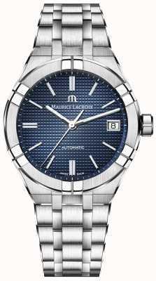 Maurice Lacroix Quadrante blu automatico Aikon in acciaio inossidabile AI6007-SS002-430-1