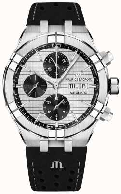 Maurice Lacroix Cronografo automatico Aikon quadrante nero panda cinturino nero AI6038-SS001-132-1