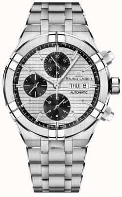 Maurice Lacroix Quadrante panda automatico cronografo Aikon in acciaio inossidabile AI6038-SS002-132-1