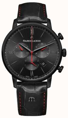 Maurice Lacroix Eliros cinturino in pelle nera placcato pvd nero EL1098-PVB01-310-1