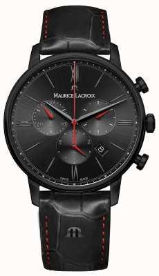 Maurice Lacroix Eliros cinturino in pelle nera placcato pvd nero EL1098-PVB01-310-1