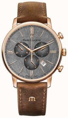 Maurice Lacroix Cronografo Eliros con cinturino in pelle marrone quadrante EL1098-PVP01-210-1