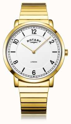 Rotary   braccialetto placcato in oro da uomo   GB02766/18