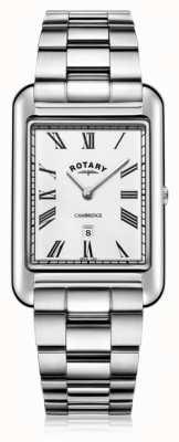 Rotary | bracciale in acciaio inossidabile da uomo | quadrante bianco | GB05280/01