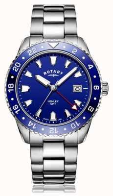 Rotary | bracciale in acciaio inossidabile da uomo | quadrante blu | GB05108/05