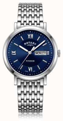 Rotary | bracciale in acciaio inossidabile da uomo | quadrante blu | GB05300/66