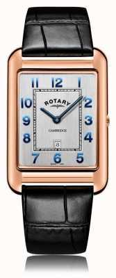 Rotary | cinturino in pelle nera da uomo | cassa in oro rosa | GS05284/70