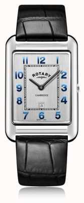 Rotary | data di cinturino in pelle nera da uomo | GS05280/70