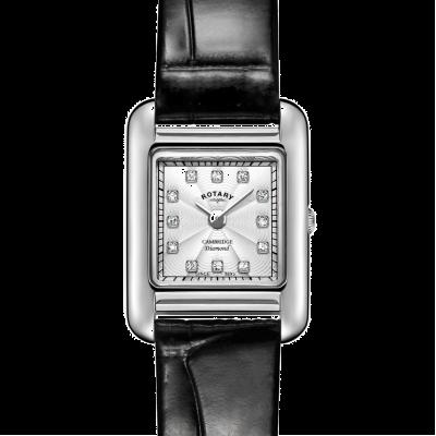 Rotary   orologio da donna in pelle nera   LS05285/70/D