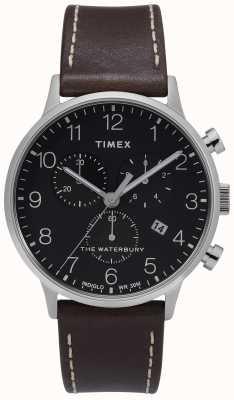 Timex | mens waterbury classic chrono | quadrante nero | TW2T28200D7PF