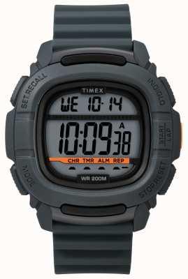 Timex   aumentare shock digitale grigio   cinturino in caucciù TW5M26700SU