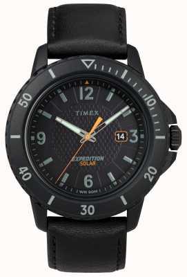 Timex | pelle nera solare alla gallina | quadrante nero | TW4B14700D7PF