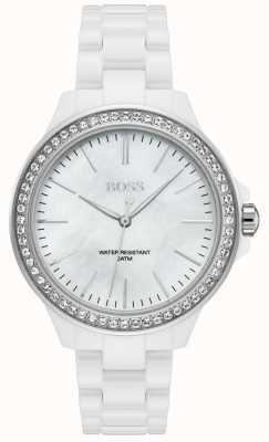 BOSS | bracciale da donna bianco | quadrante bianco | 1502454