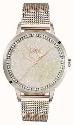 Boss | bracciale da donna in oro rosa pallido con maglie | 1502464