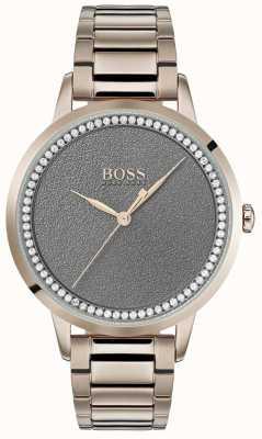 BOSS | orologio da donna al crepuscolo | acciaio inossidabile | quadrante grigio | 1502463