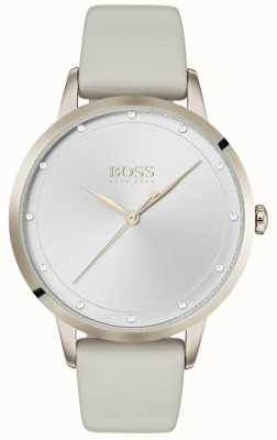 Boss Twilight | cinturino in pelle grigio da donna | quadrante argentato | 1502461