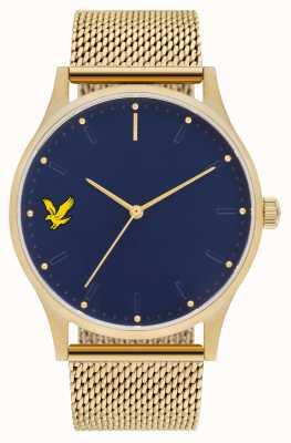 Lyle & Scott Mens speranza se oro placcato in pvd bracciale in acciaio cinturino quadrante blu LS-6013-44