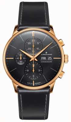 Junghans Cronografo Meister | cinturino in pelle nera | 027/7923.01