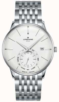 Junghans Meister mega piccoli secondi   cinturino in acciaio inossidabile   058/4900.46