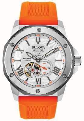 Bulova | uomo | stella marina | automatico | cinturino in caucciù arancione | 98A226