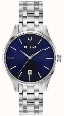 Bulova Quadrante blu per donna in acciaio inossidabile 96M149