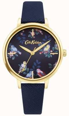 Cath Kidston | cinturino in pelle blu | quadrante floreale blu | CKL069UG