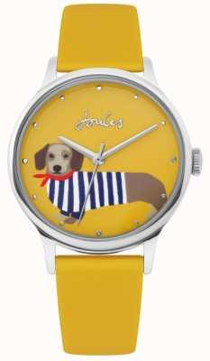 Joules | cinturino in caucciù giallo donna | quadrante a forma di cane con salsiccia | JSL010Y