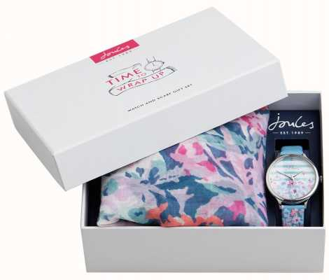 Joules | set regalo per orologio e sciarpa da donna | JSL015USSET