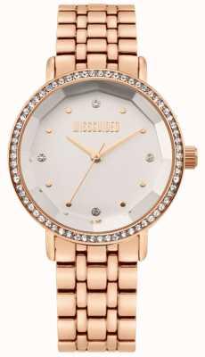 Missguided | bracciale da donna in acciaio inossidabile oro rosa | quadrante bianco | MG021RGM