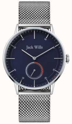 Jack Wills | mens batson ii | bracciale a maglie d'acciaio | quadrante blu | JW002BLMH