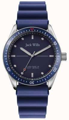 Jack Wills | baia del mulino da uomo | cinturino in caucciù blu | quadrante blu | JW015RBBL