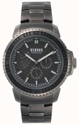 Versus Versace | uomo aberdeen | quadrante nero | bracciale in acciaio inossidabile grigio VSPLO0819